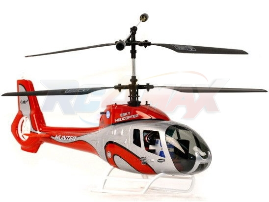 Helikopter HUNTER 2,4 GHz - czerwony + Tornado Power 7,4V 850mAh 30C NANO (JST)
