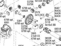 Rustler 4X4 VXL (67076-4) Front Assembly