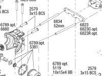 Rustler 4X4 VXL (67076-4) Rear Assembly