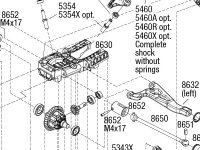 E-Revo VXL Brushless (86086-4) Front Assembly Exploded View