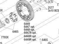E-Revo VXL Brushless (86086-4) Transmission Assembly