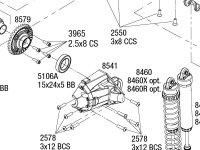 Unlimited Desert Racer (85086-4) Rear Assembly
