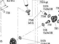 X-Maxx 8s (77086-4) Rear Assembly