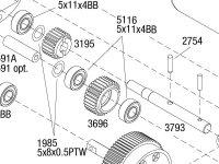 Stampede (36054-4) Transmission Assembly