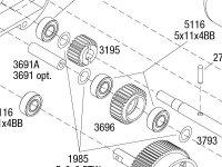 Rustler (37054-4) Transmission Assembly